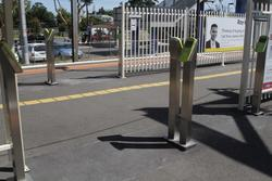 Myki readers at the entrance to Laverton platform 2 and 3