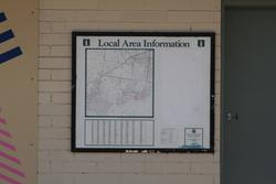 Ancient 'Local Area Information' map at Laverton station