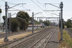 No signals for down trains departing Laverton station