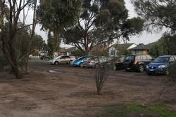 Ad hoc car parking at the north-west side of Laverton station