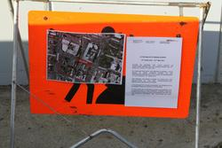 Notice of work on the new Little Malop Street footbridge