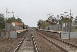 Looking down the platforms at Little River