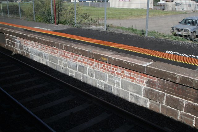 Rebuilt section of platform 2