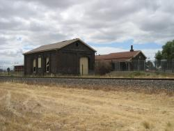 Goods shed and station from the west