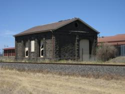Goods shed viewed from the west