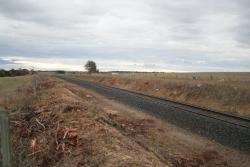 Approximate site of Duneed, looking down the line towards Waurn Ponds