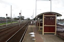 Additional passenger shelter at the up end of the platform