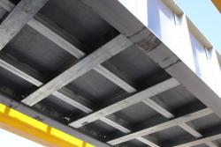 Underside of the new bridge span
