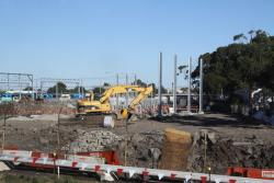 Second phase of the stable yard takes shape, on the Werribee line side of the Tarp Shop