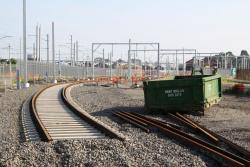 Track lead into the new Stage 2 stabling sidings