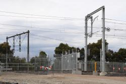 Gate for the new down end yard lead off the Werribee line