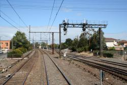 Freight lines at the up end, signals for the junction of the East and West goods lines