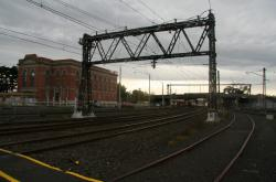 Up end of sidings 'E' and the Newport substation