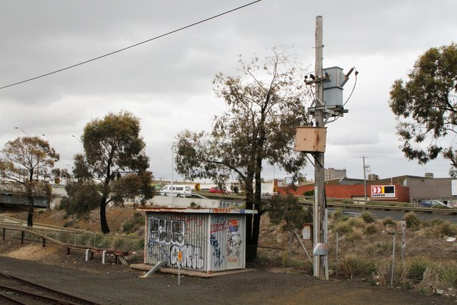 Geelong line signal power substation at North Geelong