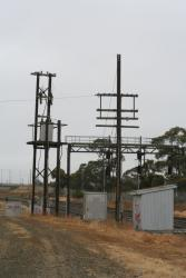 North Geelong Junction: Disused polelines and power supply equipment