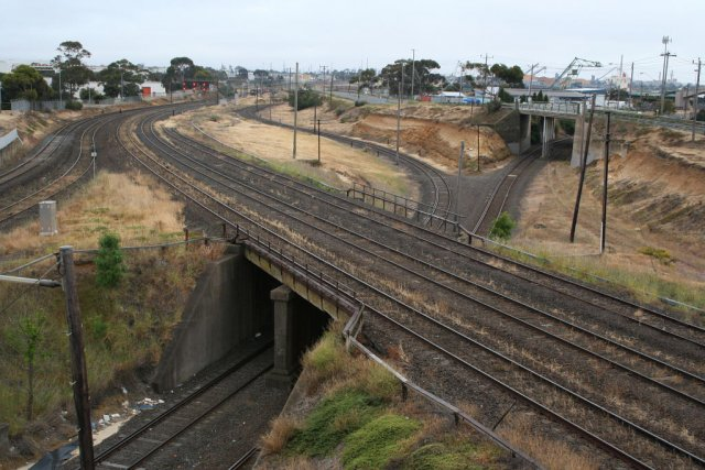Overview of the junction from overhead