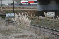 'KM change 69km decreasing' for up trains at North Geelong Junction