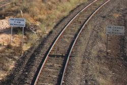 'KM change 71km increasing' for down trains at North Geelong Junction