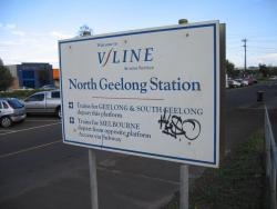 North Geelong: North Geelong station sign