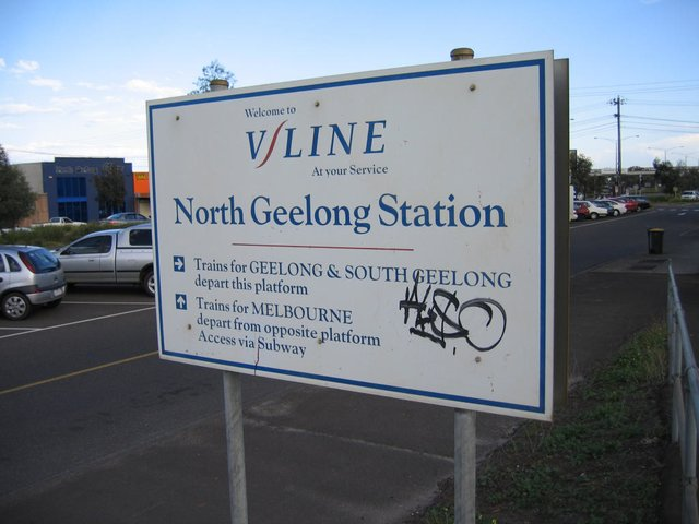 North Geelong station sign