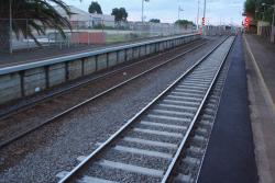 Relaid track through platform 2