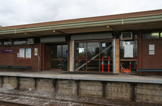 Bay window removed to allow for wheelchair access to the up end of the platform