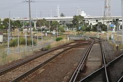 Pair of dual gauge track at the down end, leading towards South Dynon