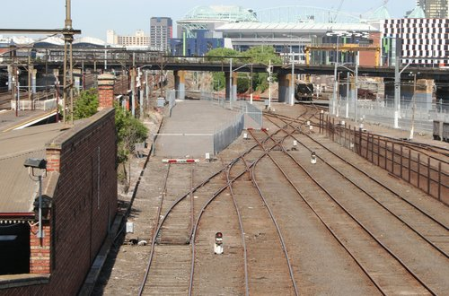Track removed from Melbourne Yard for work site