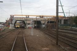Work on the new concourse, from the south