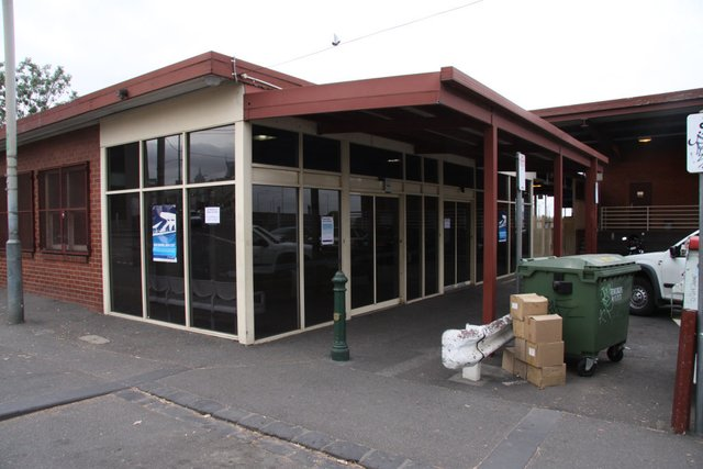 The old station entry, now closed for good
