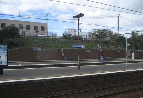 Looking east across the platforms before work begins