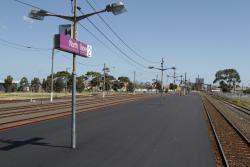 Platforms 1 and 2 freshly resurfaced