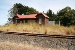 Abandoned station building