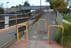 Western ramp up to the footbridge