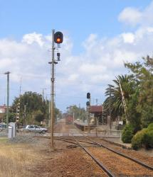 South Geelong: Post 2 with up arrival signal
