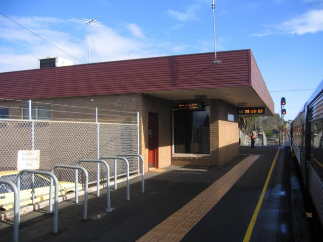 Station building and signal bay