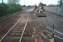 New pointwork for the siding, to permit platform extension