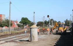 New signal post and points to permit platform extension