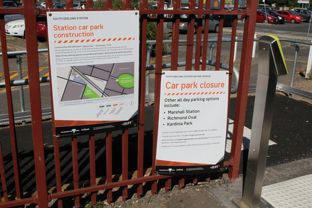 Notice of car park works at South Geelong