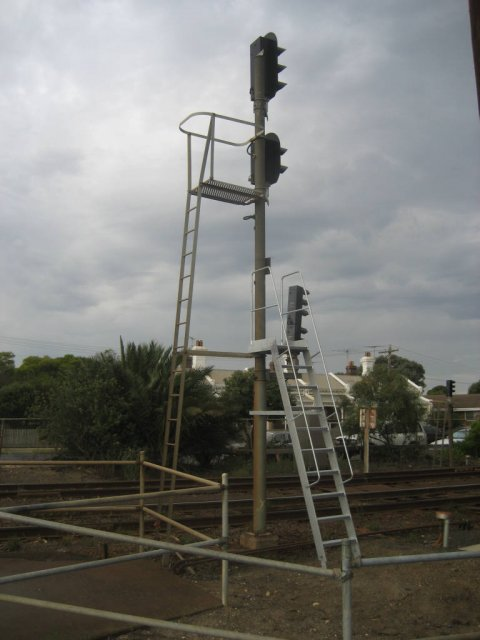 New access ladder for up departure signal on post 8