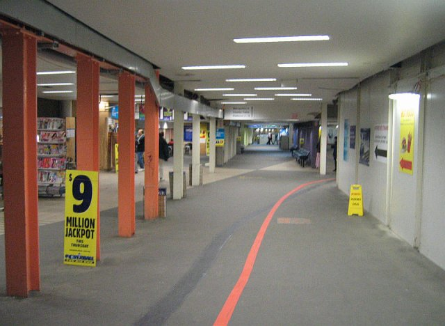 Country section of the subway, looking back west to the suburban section