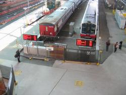 Southern Cross: New departure information boards working