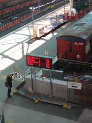 Southern Cross: New PIDS units displaying V/line departures