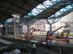 Southern Cross: Work continues on the main concourse