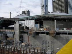 Southern Cross: Work on the Collins Street concourse continues west