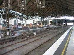 Southern Cross: Platform 9/10 almost completed, from the Bourke Street end