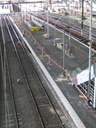 Southern Cross: Platform 9/10 almost completed, from the Collins Street end