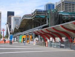 Southern Cross: Awning on the Bourke Street bridge underway
