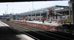 Southern Cross: Awning frame on platform 2/3 almost done