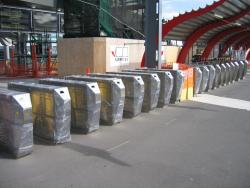 Southern Cross: New Metcard barriers at the Bourke Street end